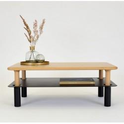 MILO PROSTOKĄTNY rozkładany stolik styl nowoczesny polski design