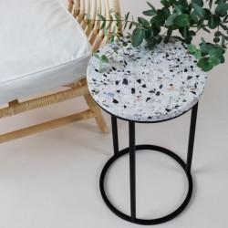 ALTO stolik kawowy z  blatem lastryko polski design