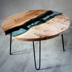 ASH1 stolik kawowy drewniany w industrialnym stylu