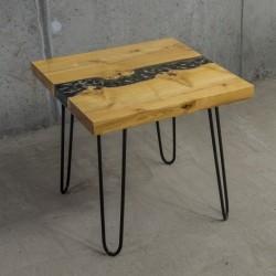 CARBON stolik kawowy drewniany w industrialnym stylu