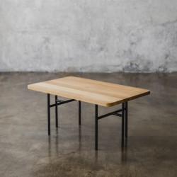 ELMA stolik kawowy z blatem z litego drewna dębowego polski design