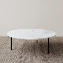 GRUFF L stolik kawowy z kamiennym blatem polski design