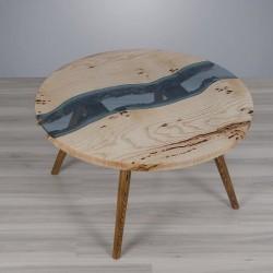 KOZIOŁEK stolik kawowy drewniany w industrialnym stylu