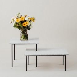 MODERNO dwa stoliki kawowowe  z kamiennym blatem polski design