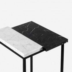 PATTERN PIANO stolik pomocnik z kamiennym blatem polski design