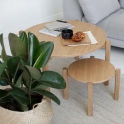 PIANO SMALL okrągły stolik kawowy w stylu bauhaus