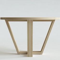 ELM okrągły stół z litego drewna polski design