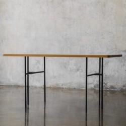 ELMA stół z blatem z litego drewna dębowego polski design