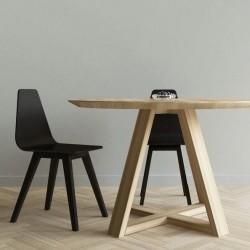 FLOW okrągły stół z litego drewna polski design