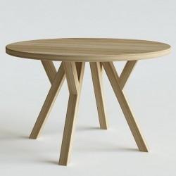 HIM okrągły stół z litego drewna polski design