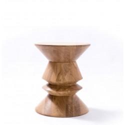 FOU stolik z litego drewna dębowego polski design