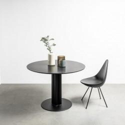 MOON okrągły stół z marmurowym blatem styl loftowy