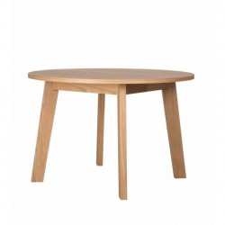 OLSEN okrągły rozkładany stół drewniany w skandynawskim stylu