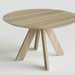 RUNDO okrągły stół z litego drewna polski design