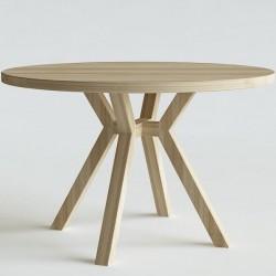 STAR okrągły stół z litego drewna polski design