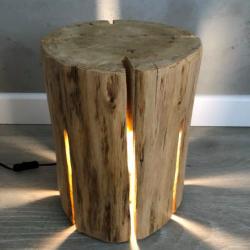 TINO LAMPA ozdoba z pnia drzewa, polski design