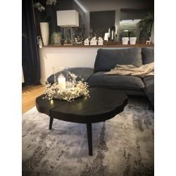 TINA ŁAWA - stolik kawowy, plaster drewna, polski design