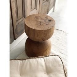 PÓŁKOOLA stolik/stołek z pnia drzewa, polski design