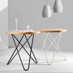 FLORENCE stolik kawowy z drewnianym blatem, polski design