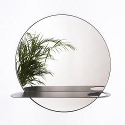 HALO okrągłe lustro z półką, polski design