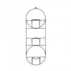 ORIO COSMO potrójny kwietnik ścienny w stylu loftowym, polski design