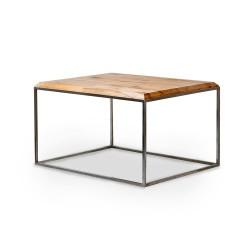 JERNBJORN stolik z drewna bukowego na geometrycznej ramie