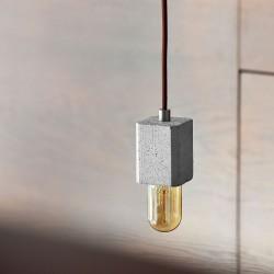 FIMBUL lampa wisząca z betonu z ceramiczną podsufitką, polski design