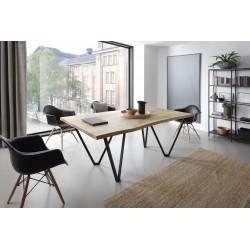 VOLARE stół z litego drewna w stylu loftowym, polski design