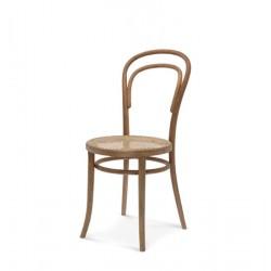 A-14 krzesło z wyplatanym siedziskiem w stylu vintage, polski design