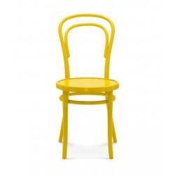 A-14 krzesło z drewnianym siedziskiem w stylu vintage, polski design