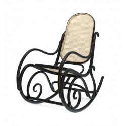BUJAK 9816 fotel bujany z wyplatanym siedziskiem i oparciem w stylu vintage, polski design