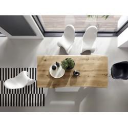 YES stół z litego drewna w stylu loftowym, polski design