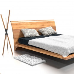 RAY łóżko z litego drewna, polski design