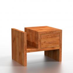 PAU drewniana szafka nocna, polski design