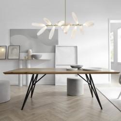 MUST stół z litego drewna w stylu loftowym, polski design