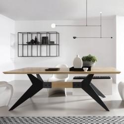 ICEBERG stół z litego drewna w stylu loftowym, polski design