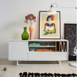LOWBO WHITE szafka rtv w industrialnym stylu, polski design