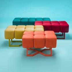 PUFFY KOLOR ławeczka w industrialnym stylu polski design
