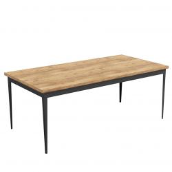 FROLL stół z drewnianym blatem w stylu industrialnym, polski design