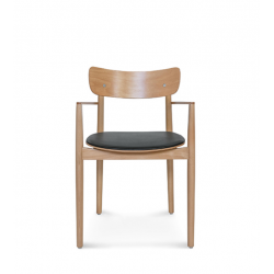 NOPP KRZESŁO Z PODŁOKIETNIKAMI B-1803 drewniane krzesło w skandynawskim stylu