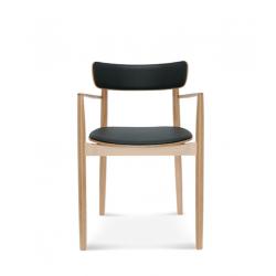 NOPP KRZESŁO Z PODŁOKIETNIKAMI B-1803/1 tapicerowane krzesło w skandynawskim stylu