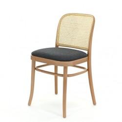 KRZESŁO A-811/1 drewniane krzesło z wyplotem na oparciu i tapicerowanym siedziskiem