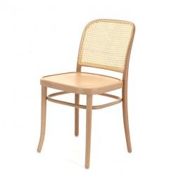 KRZESŁO A-811 drewniane krzesło z plecionym siedziskiem i oparciem