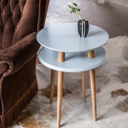 UFO wysoki stolik kawowy w stylu vintage polski design