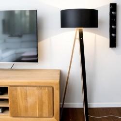 WANDA czarna lampa w skandynawskim stylu