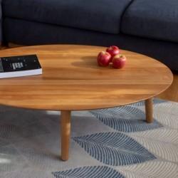 CONTRAST OVO owalny stolik kawowy w stylu vintage polski design