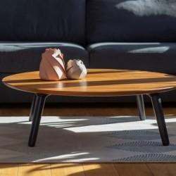 CONTRAST SLICE okrągły stolik kawowy w stylu vintage polski design