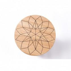 TORES stolik z litego drewna dębowego polski design