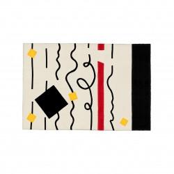 MYŚLI designerski wełniany dywan, polski design