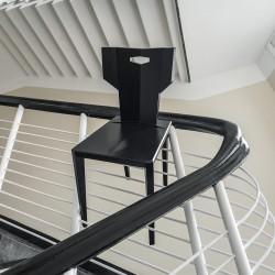 PEGAZ CZARNE krzesło z litego drewna dębowego polski design